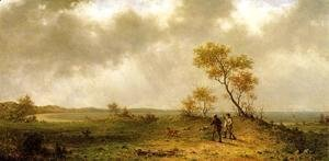 Martin Johnson Heade - Two Hunters In A Landscape