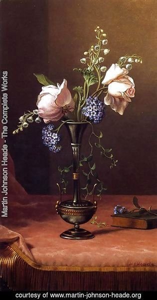 Martin Johnson Heade - Victorian Vase With Flowers Of Devotion