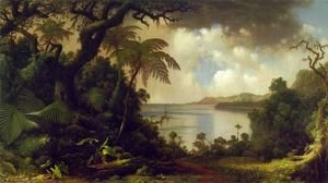 Martin Johnson Heade - View From Fern Tree Walk  Jamaica