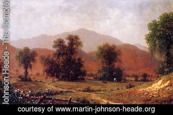 Martin Johnson Heade - White Mountain Landscape  Mount Washington