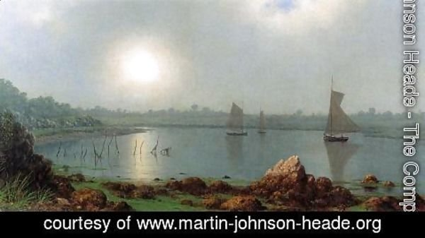 Martin Johnson Heade - York Harbor  Coast Of Maine